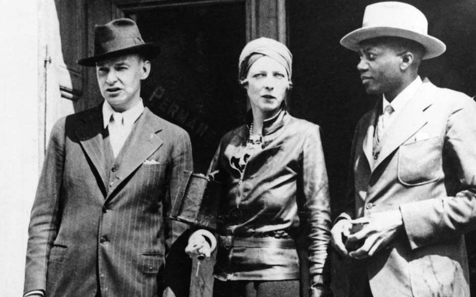Nancy Cunard with John Banting and Taylor Gordon.